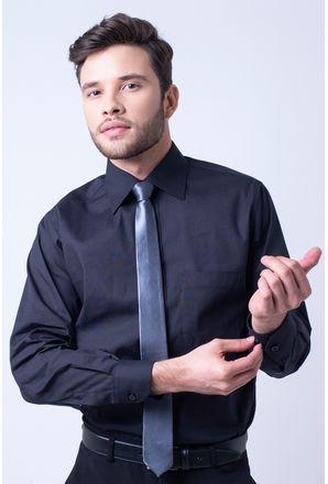 Camisa-social-masculina-tradicional-algodao-fio-50-preto-f08079a-1