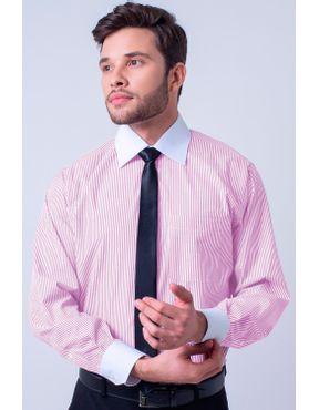 b324bf2538 Camisa social masculina tradicional passa fácil rosa f95820a 01 ...