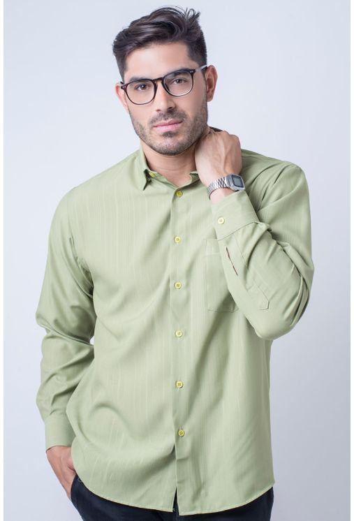 Camisa-casual-masculina-tradicional-microfibra-verde-claro-f06208a-1