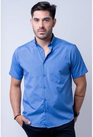 Camisa-casual-masculina-tradicional-algodao-misto-azul-f07465a-1