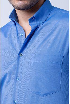 Camisa-casual-masculina-tradicional-algodao-misto-azul-f07465a-3