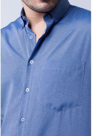 Camisa-casual-masculina-tradicional-algodao-misto-azul-escuro-f07465a-3