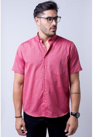 Camisa-casual-masculina-tradicional-algodao-misto-vermelho-f07465a-1