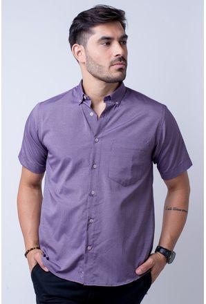 Camisa-casual-masculina-tradicional-algodao-misto-roxo-f07465a-1