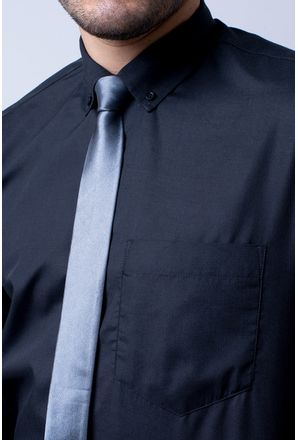 Camisa-casual-masculina-tradicional-algodao-misto-preto-r09993a-3