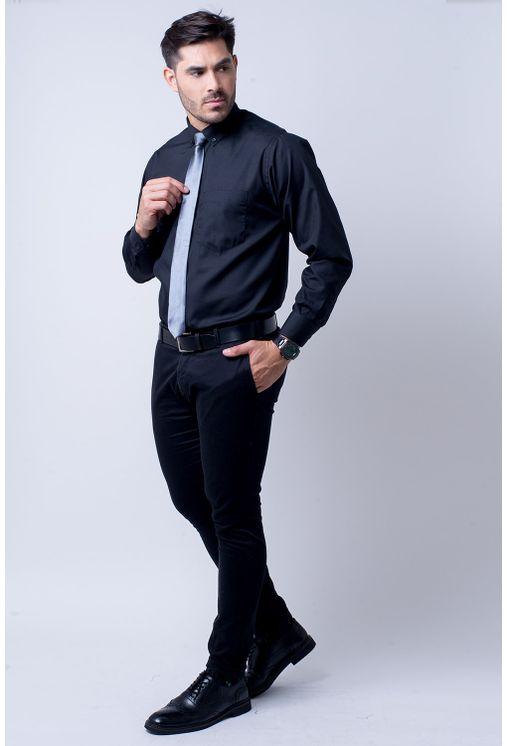 Camisa-casual-masculina-tradicional-algodao-misto-preto-r09993a-4