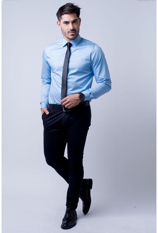 Camisa-social-masculina-slim-algodao-fio-80-azul-f05423s-1