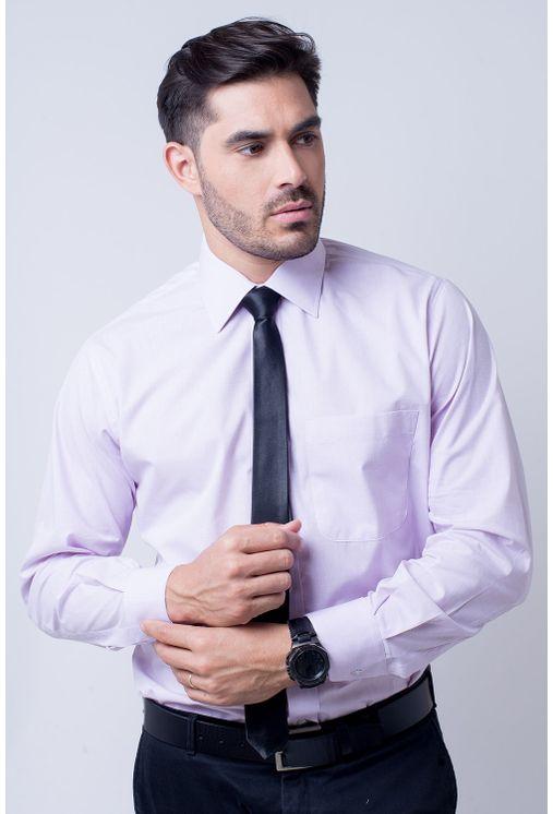 f6130539c8 Camisa-social-masculina-tradicional-algodao-misto-lilas-f05130a- ...