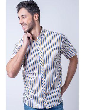 3978f35529 Camisaria Fascynios Oficial · Camisa Casual Masculina · Algodão Fio 60. Camisa  casual masculina tradicional algodão fio 60 amarelo f01275a 01 ...