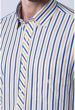 Camisa-casual-masculina-tradicional-algodao-fio-60-amarelo-f01275a-3