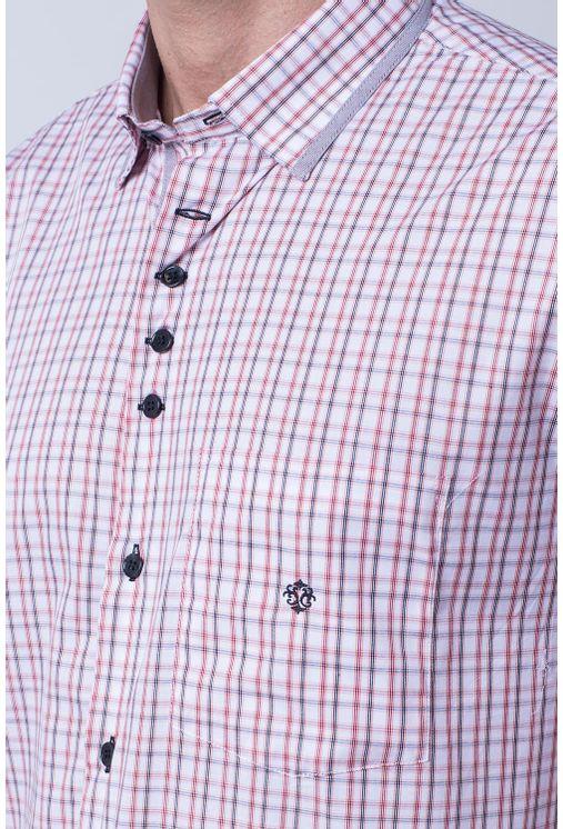 Camisa-casual-masculina-tradicional-algodao-fio-60-salmao-f01452a-1