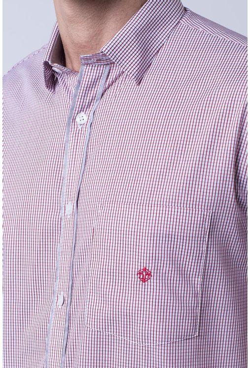 Camisa-casual-masculina-tradicional-algodao-fio-60-vermelho-f01453a-1