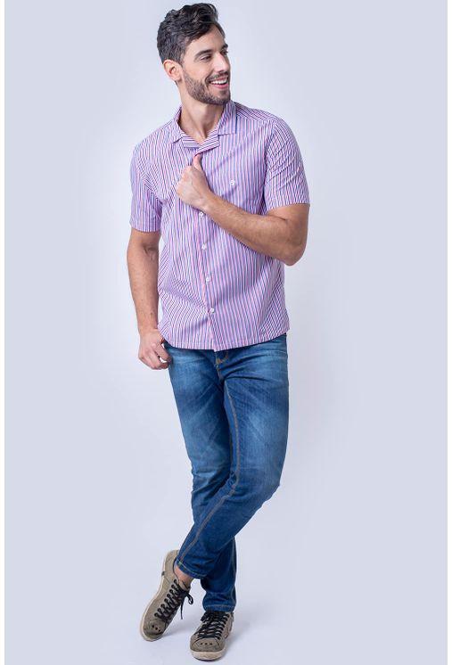 Camisa-casual-masculina-tradicional-algodao-fio-60-rosa-f01506a-4