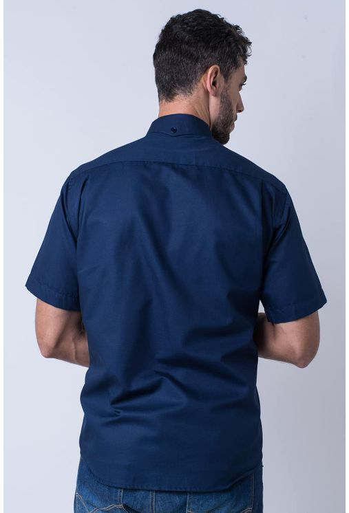 Camisa-casual-masculina-tradicional-sarjada-azul-escuro-f01700a-2
