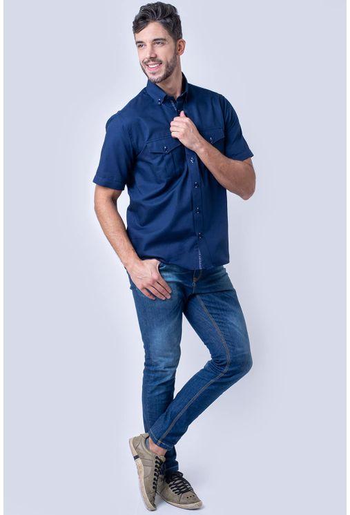 Camisa-casual-masculina-tradicional-sarjada-azul-escuro-f01700a-4