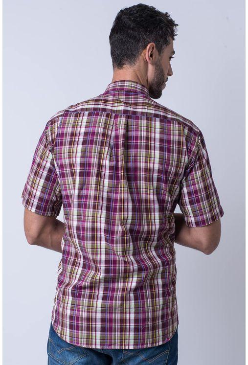 Camisa-casual-masculina-tradicional-algodao-fio-40-roxo-f05527a-1