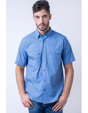 Camisaria Fascynios Oficial · Camisa Casual Masculina · Algodão Fio 50.  Camisa casual masculina tradicional fio 50 azul escuro f06119a 01 ... dd69c87724078