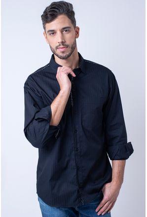 Camisa-casual-masculina-tradicional-algodao-fio-50-preto-f01308a-1
