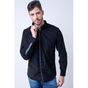 Camisa-casual-masculina-tradicional-veludo-preto-f01529a-1