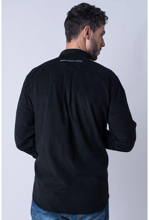 Camisa-casual-masculina-tradicional-veludo-preto-f01529a-2