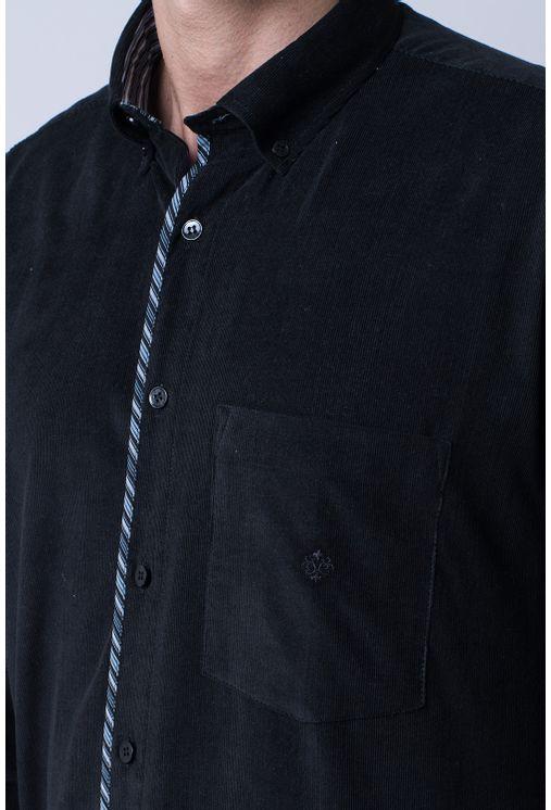 Camisa-casual-masculina-tradicional-veludo-preto-f01529a-3