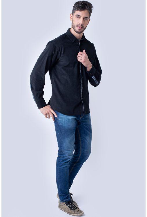 Camisa-casual-masculina-tradicional-veludo-preto-f01529a-4