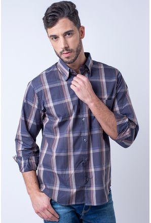 Camisa-casual-masculina-tradicional-algodao-fio-50-grafite-f01668a-1