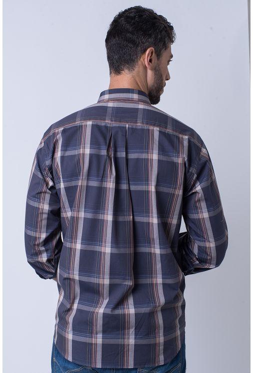 Camisa-casual-masculina-tradicional-algodao-fio-50-grafite-f01668a-2