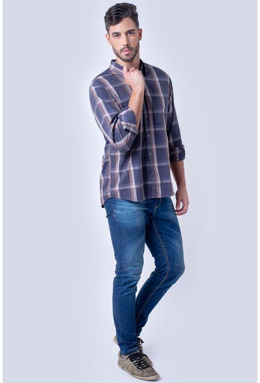 Camisa-casual-masculina-tradicional-algodao-fio-50-grafite-f01668a-4