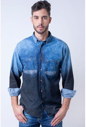 Camisa-casual-masculina-tradicional-jeans-preto-f01820a-1