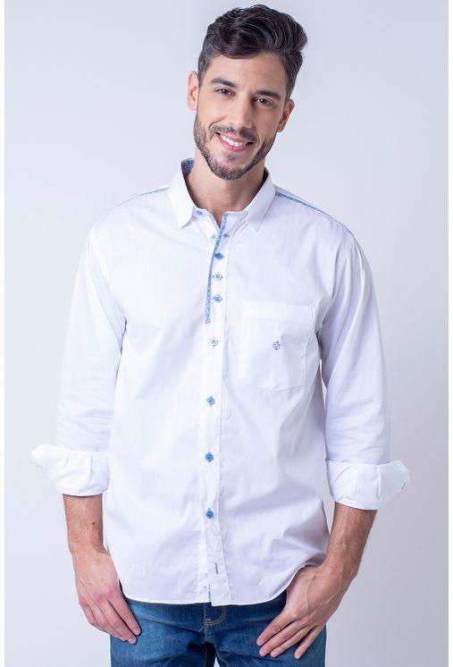 Camisaria Fascynios Oficial · Camisa Casual Masculina · Algodão Fio 50.  Camisa-casual-masculina-tradicional-algodao-fio-50-azul- ... a68ff8831bb93