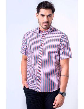 Camisaria Fascynios Oficial · Camisa Casual Masculina · Algodão Fio 60.  Camisa casual masculina tradicional algodão fio 60 vermelho f01275a 01 ... ad858438240ff