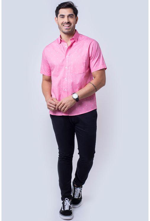 Camisa-casual-masculina-algodao-fio-60-rosa-f05990a-4