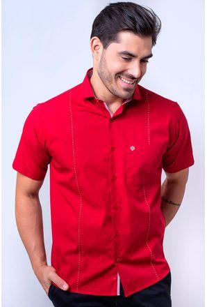 Camisa-casual-masculina-tradicional-algodao-fio-60-vermelho-f01145a-1