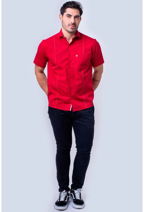 Camisa-casual-masculina-tradicional-algodao-fio-60-vermelho-f01145a-4