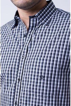 Camisa-casual-masculina-tradicional-algodao-fio-50-preto-f08435a-3