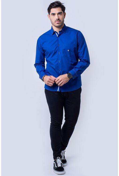 Camisa-casual-masculina-tradicional-algodao-fio-60-azul-f01305a-1