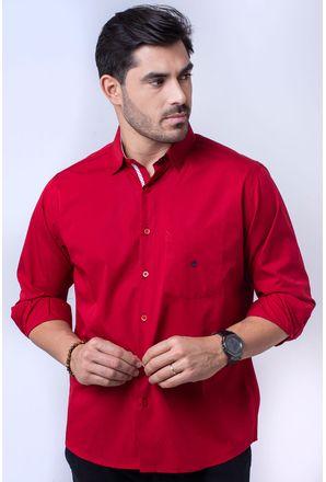 Camisa-casual-masculina-tradicional-algodao-fio-60-vermelho-f01305a-1