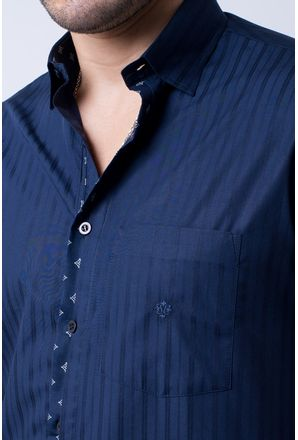 Camisa-casual-masculina-tradicional-algodao-fio-60-azul-escuro-f01309a-3