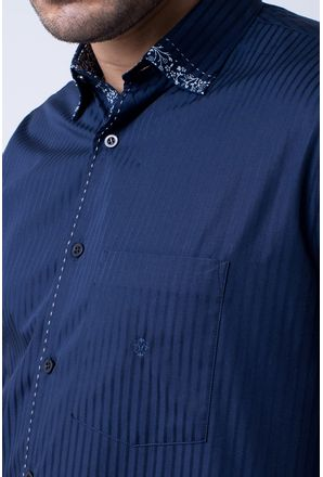 Camisa-casual-masculina-tradicional-algodao-fio-60-azul-escuro-f01311a-3