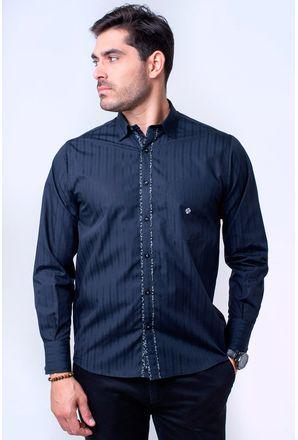 Camisa-casual-masculina-tradicional-algodao-fio-60-preto-f01314a-1