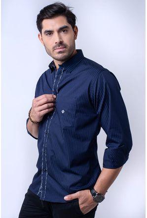 Camisa-casual-masculina-tradicional-algodao-fio-60-azul-escuro-f01312a-1