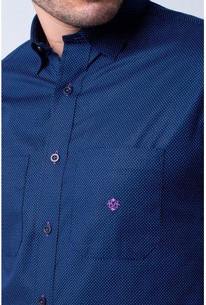 Camisa-casual-masculina-tradicional-algodao-fio-40-azul-escuro-f01862a-3