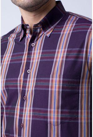 Camisa-casual-masculina-tradicional-algodao-fio-50-roxo-f03225a-3