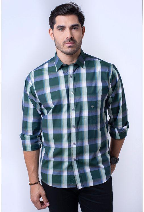 Camisa-casual-masculina-tradicional-algodao-fio-50-verde-f01361a-1