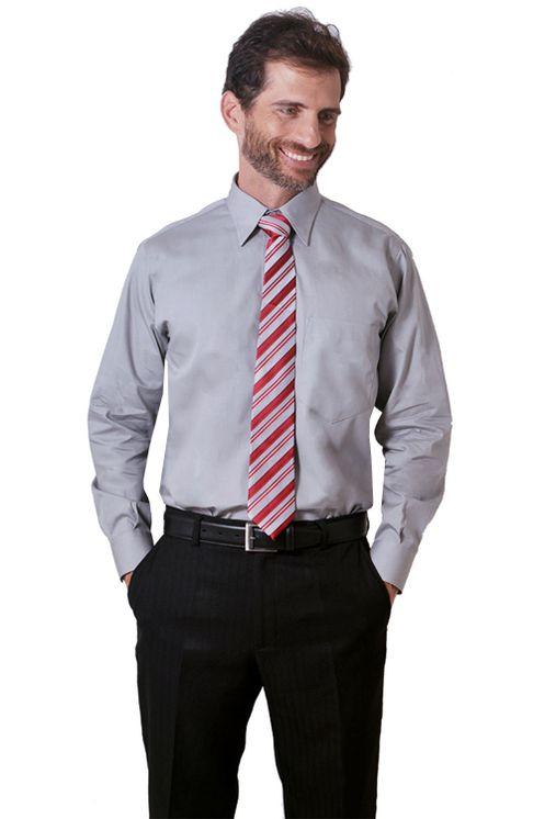 Camisa-social-masculina-tradicional-algodao-fio-40-cinza-f09935a-1
