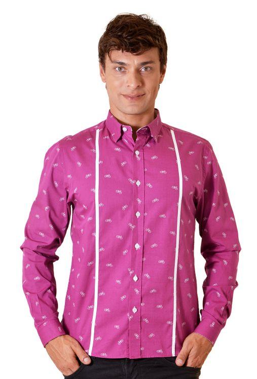 Camisa-casual-masculina-slim-algodao-fio-60-roxo-f01612s-5