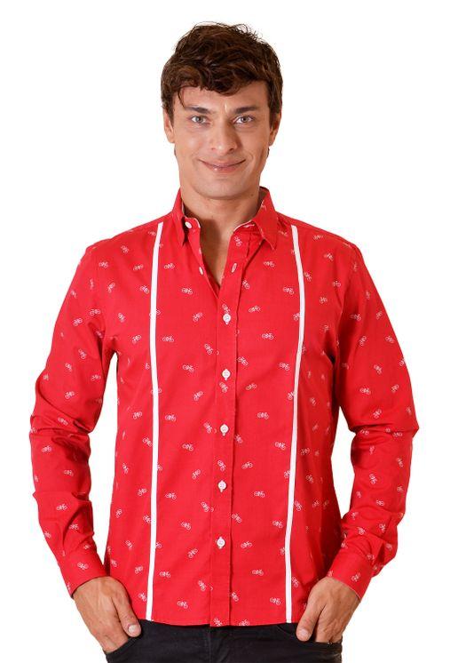 Camisa-casual-masculina-slim-algodao-fio-60-vermelho-f01612s-5