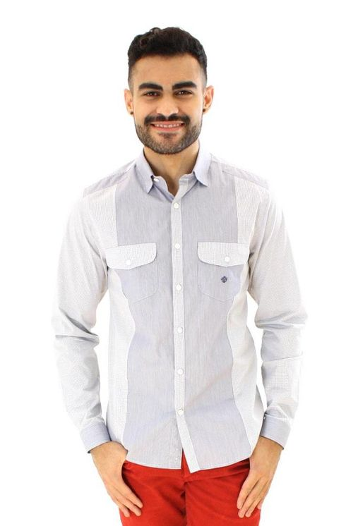 Camisa-casual-masculina-slim-algodao-fio-80-azul-escuro-f00793s-1