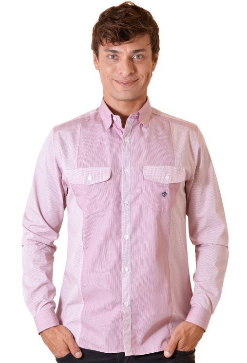 Camisa-casual-masculina-slim-algodao-fio-80-vermelho-f00793s-5
